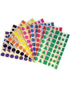 Nálepky - Farebné tvary (1152 ks)