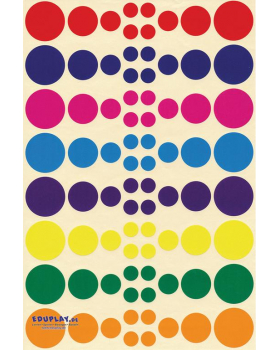 Nálepky - Kruhy (640 ks)