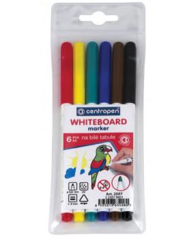 Fixy na tabule- sada 6 barev