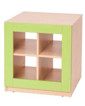 Blok so 4 priehradkami - zelený