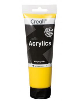 Akrylové barvy, 250 ml - žlutá