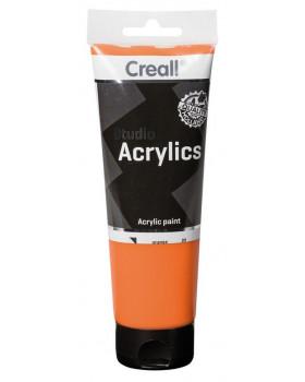 Akrylové barvy, 250 ml - oranžová