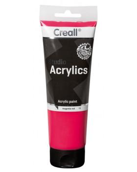Akrylové barvy, 250 ml - magenta (růžová)
