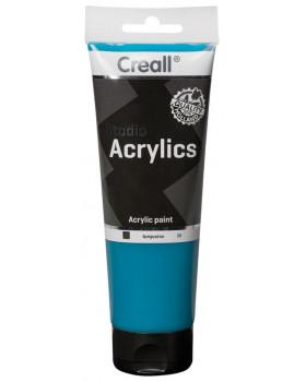 Akrylové barvy, 250 ml - tyrkysová