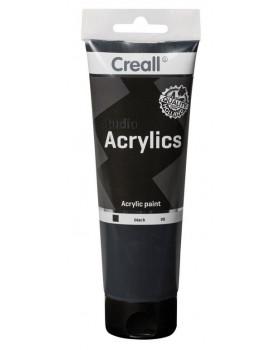 Akrylové barvy, 250 ml - černá