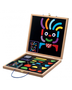 Magnetická skládačka s tabulkou-černá
