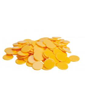 Plastové žetony - žluté