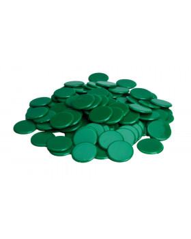 Plastové žetony - zelené