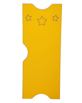 Dvířka k šatnám Ementál Hvězda - žluté