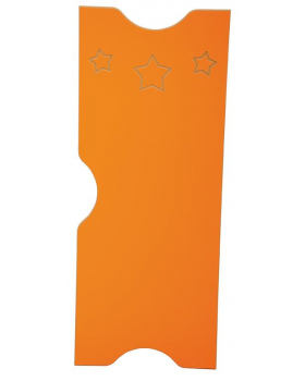 Dvířka k šatnám Ementál Hvězda - oranžové