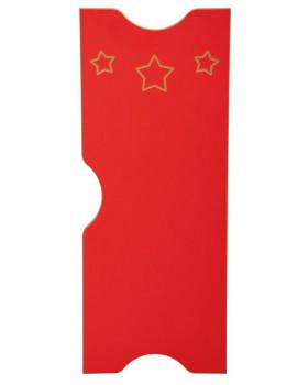 Dvířka k šatnám Ementál Hvězda - červené