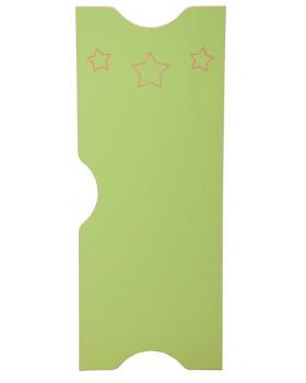 Dvířka k šatnám Ementál Hvězda - zelené