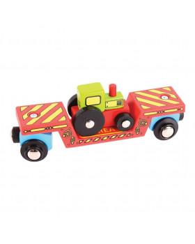 Velký vagón s traktorem