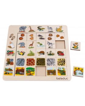 Přiřazovací puzzle - Savana