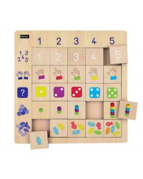 Dřevěné logické tabulky-čísla
