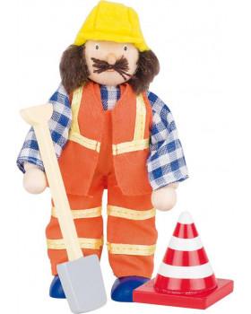 Dřevěné panenky - profese - Stavbař 1