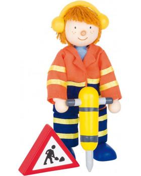 Dřevěné panenky - profese - Stavbař 2