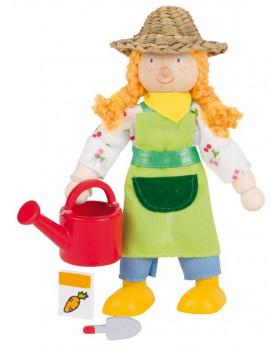 Dřevěné panenky - profese - Farmářka