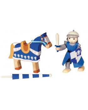 Dřevěný rytíř - modrý