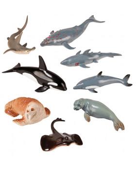 Plastová zvířátka-V moři 8 ks
