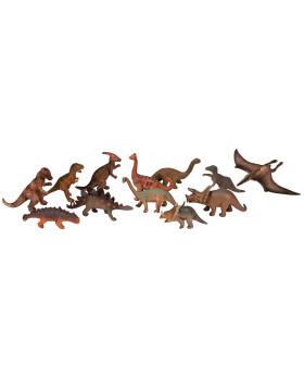 Plastová zvířátka-Dinosauři 12 ks