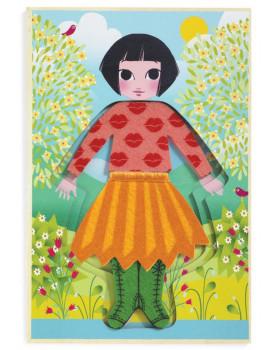 Magnetické oblékání - Děvčátko