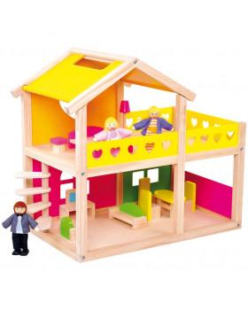 Domeček s nábytkem a panenkami