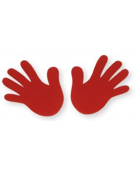 Červená dlaň sada 2 ks