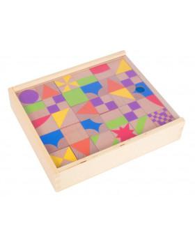 Dřevěné mozaikové kostky