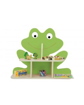 Police na stěnu - Žabička zelená