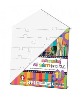 Namaluj si vlastní puzzle - Domeček