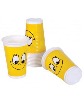 Plastové skleničky 10ks - smajlík