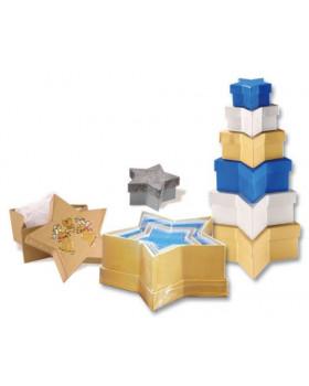 Barevné krabičky - hvězdičky