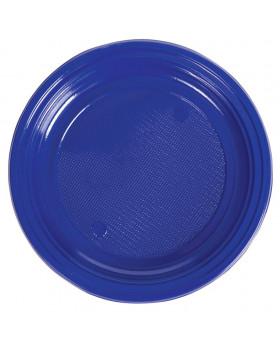 Plastové talíře - modré - 10 ks