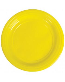 Plastové talíře - žluté - 10 ks