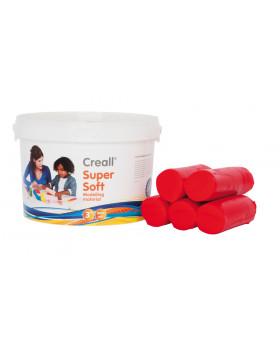 Creall - ultra jemná modelovací hmota - červená