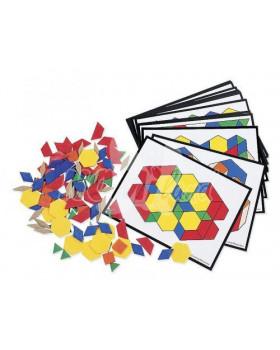 Geomet. tvary z plastu s kart.úkolů