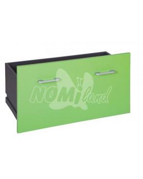 Zásuvky široké Funny vysoké - 1 ks - světle zelená
