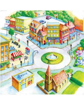Podložka na tematické hry - Město
