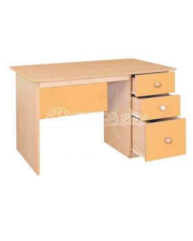 Psací stůl se zásuvkami - žlutý
