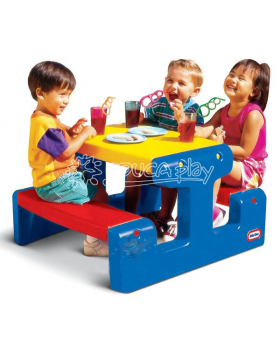 Piknikový stůl modrý