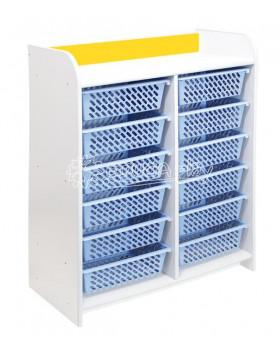 """Skříňky """"L"""" s 12 košíky - žlutá"""