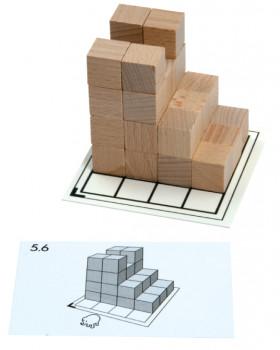 Karty s úkoly pro Dřevěné kostky v kbelíku - Set 4