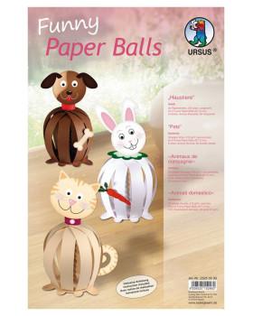 Papírové koule - Domácí mazlíčci