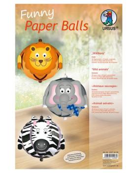 Papírové koule - Divoká zvířátka