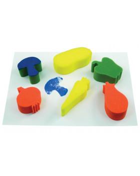 Houby na obtiskování - Zelenina - 6 ks (max 14 x 6 cm)