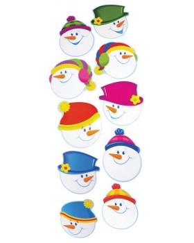 Kartonová dekorace - Sněhuláci