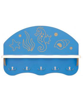 Koupelnová polička na 5 pohárků -  Mořský koník