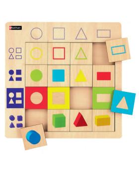 Dřevěné logické tabulky - Tvary