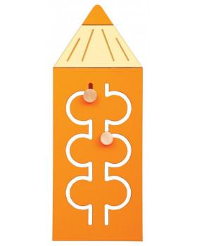 Nástěnný labyrint Barvička - oranžová